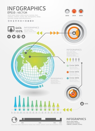 infographics set and Information Graphics vector Modern style Stock Vector - 15534169