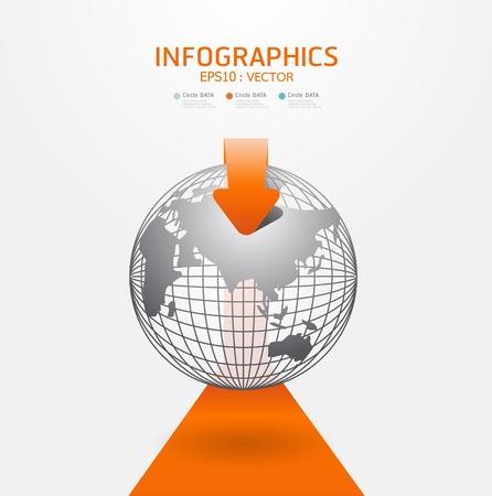 webtemplate: orange Modern infographics set and Information Graphics vector