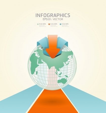webtemplate: soft color infographics set and Information Graphics vector