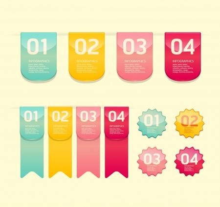 pennon: Modern soft color  Design button    can be used for infographics   numbered banners   horizontal cutout lines   graphic or website layout vector Illustration