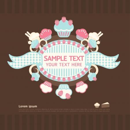 empacar: pastel tarjetas