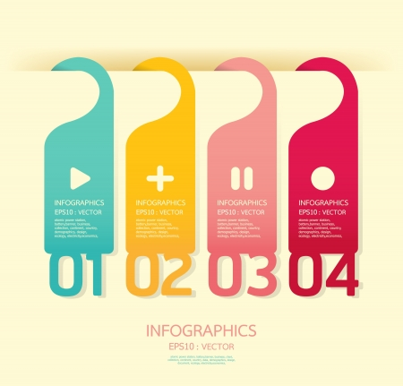 paper cut out: Modern soft color Design template   can be used for infographics