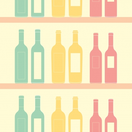 seamless wine pattern soft vintage color style Stock Vector - 15661872