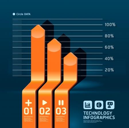 bar charts: infographic arrow diagram chart