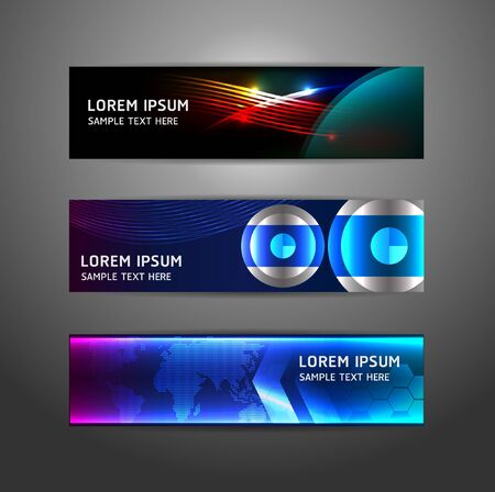 Collection abstract banner design Horizontal Stock Vector - 15831689