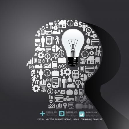 business: Gli elementi sono piccole icone