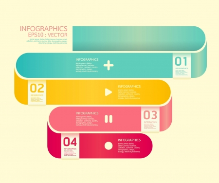 info graphic: Modern  Curve soft color Design template