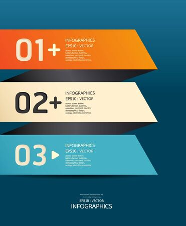 Modern  Design template blue background Vector