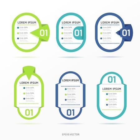 Modern color  Design label Stock Vector - 15831659