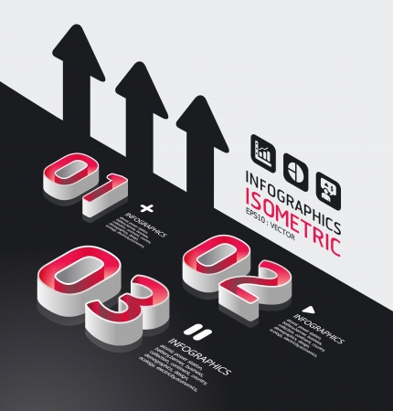 homepage:  isometric modern infographic graph