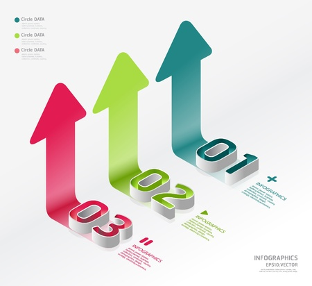 infographic isometric graph Illustration