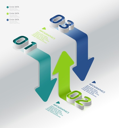 onward: infographic isometric graph Illustration
