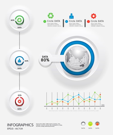 information graphics: infographics set and Information Graphics Illustration