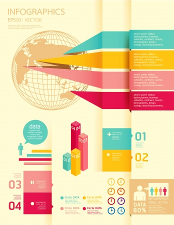 growth: infographics set and Information Graphics Illustration