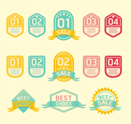 Modern soft color  Design label Stock Vector - 15831640