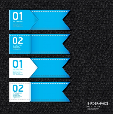empty banner: Leather blue color Design template