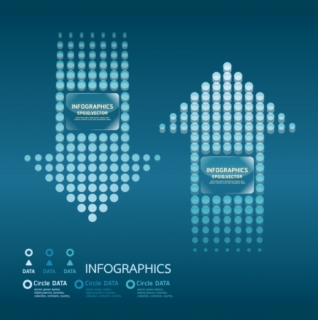 intentie: beweging stippen pijlen blauwe kleur  kan worden gebruikt voor infographics  genummerd banners  grafische of website