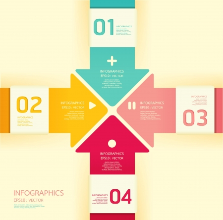Modern soft color Design template   can be used for infographics  numbered banners  horizontal cutout lines  graphic or website layout