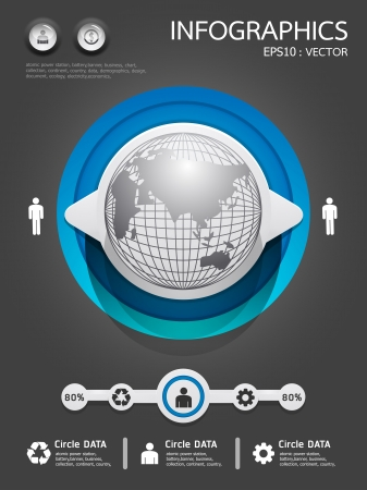 webtemplate: infographics set and Information Graphics Illustration