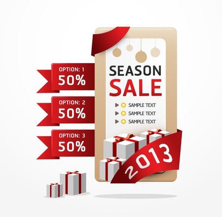 sale ribbon tag 2013 illlustration Vector