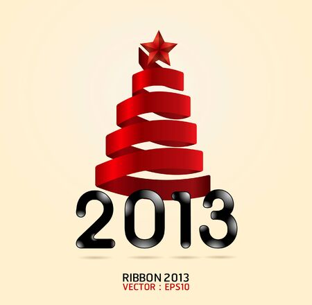 elebration: 2013  ribbon abstract christmas tree