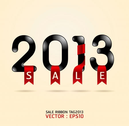 elebration: 2013 sale ribbon illustration Illustration
