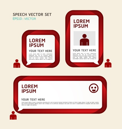 Banner or speech bubbles illustration Vector