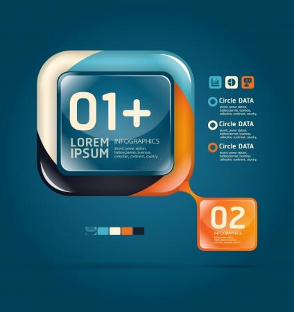 gradient: Moderní skleněný color design šablony může být použit pro infografiky číslovány bannery grafiku nebo webové stránky Ilustrace
