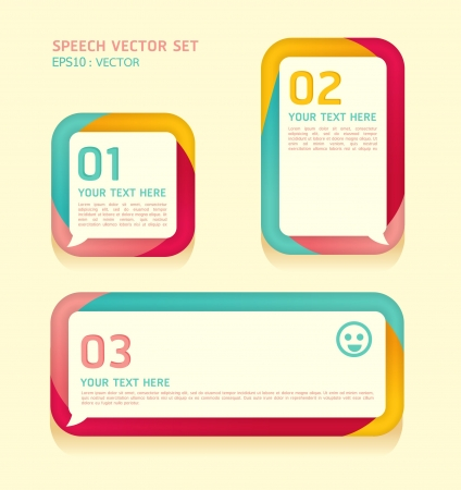 Banner or speech bubbles soft color Vector