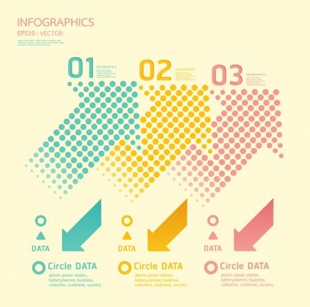 numbered: punti di colore frecce morbido pu� essere utilizzato per infografica numerati banner grafici o di layout sito web Vettoriali