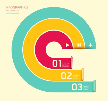 arrow circle: Modern soft color Circle Design template  can be used for infographics  numbered banners  horizontal cutout lines  graphic or website layout  Illustration