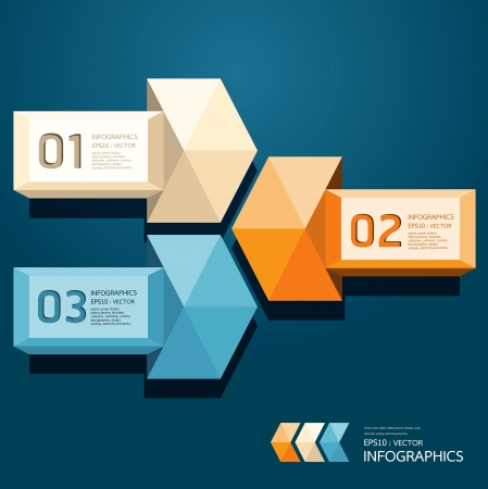 Modern Design Triangle on arrow template  can be used for infographics  numbered banners  horizontal cutout lines  graphic or website layout Horizontal Vector