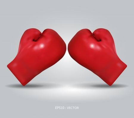 guantes de boxeo: guantes de boxeo rojos ilustración Vectores