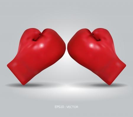 rode bokshandschoenen illustratie