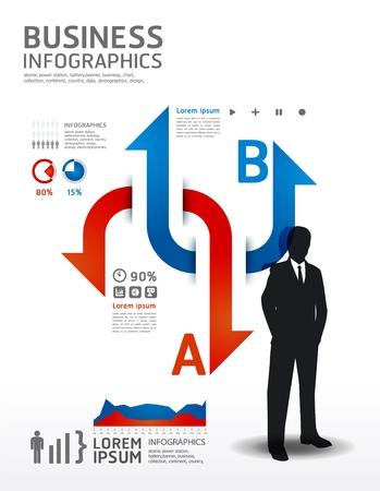 Infografik Business illustration. Konzept Vektorgrafik