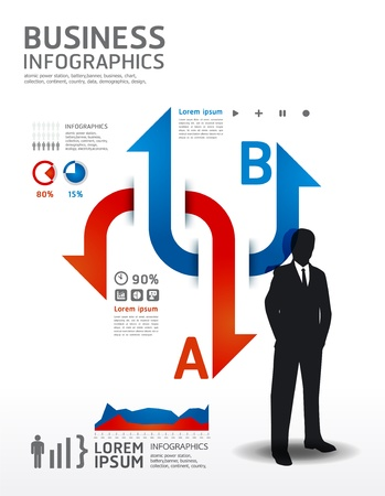 Infographics Business  illustration. concept Stock Vector - 16748991