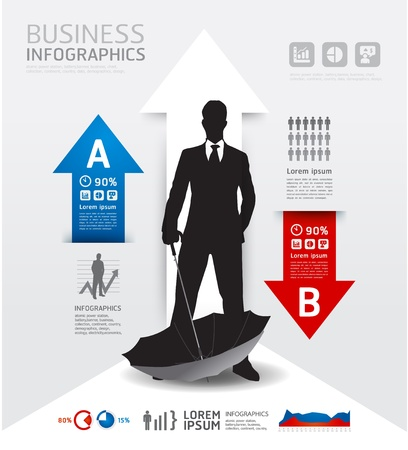 stock clipart icons: Infographics Business and financial  illustration. concept Illustration