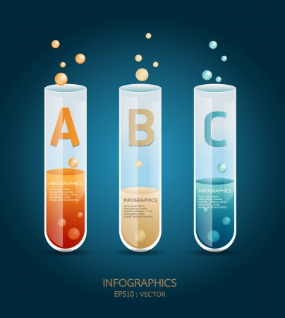 chemical laboratory: Creative Template test tube glass banner   can be used for infographics  banners  concept  illustration Illustration