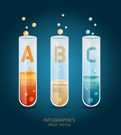 laboratorio: Plantilla de prueba de Creative tubo de vidrio bandera  se puede utilizar para la infograf�a  banners  ilustraci�n concepto
