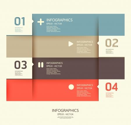 Plantilla de diseño moderno / se puede utilizar para la infografía / banners / líneas horizontales numeradas del recorte / layout gráfico o sitio web
