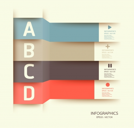 sjabloon: Modern Design template kan worden gebruikt voor infographics genummerde banners horizontale uitsparing lijnen grafische of website layout