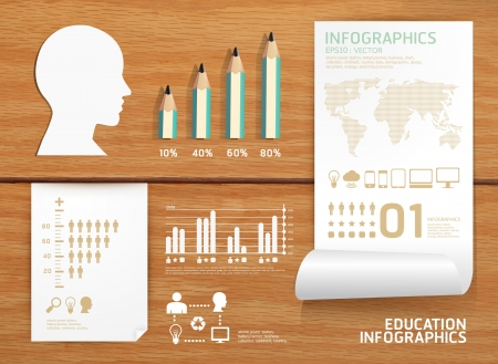 education concept: infographics set and Information education concept  can be used for infographics   concept  illustration