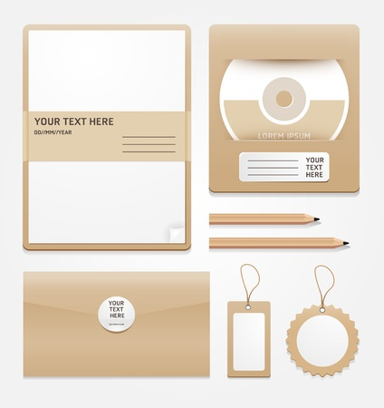 Envelope collection for design layout illustration on white background   Vector
