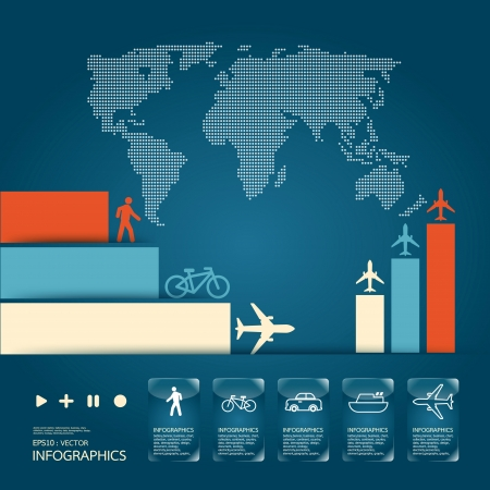 infographic traffic set Stock Vector - 16748992