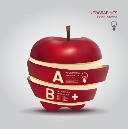 manzana: Plantilla de creatividad con la bandera de manzana  se puede utilizar para la infograf�a  banners  ilustraci�n concepto