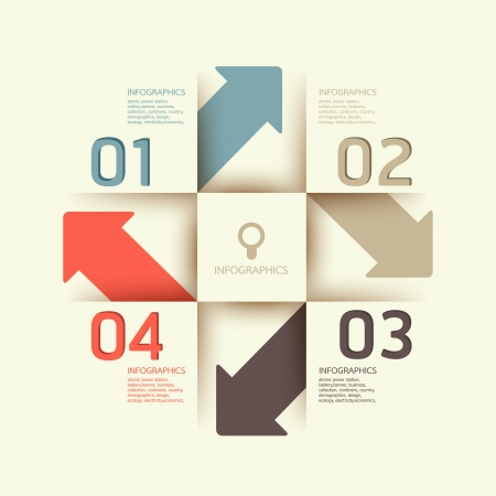 design element: Modern Design template   can be used for infographics   numbered banners   horizontal cutout lines   graphic or website layout