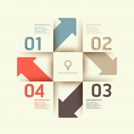 tarjeta de presentacion: Plantilla de dise�o moderno se puede utilizar para la infograf�a banderas numeradas l�neas horizontales recorte gr�ficos o sitio web layout Vectores