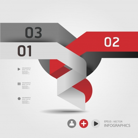 info graphic: Modern Design template   can be used for infographics   numbered banners   horizontal cutout lines   graphic or website layout