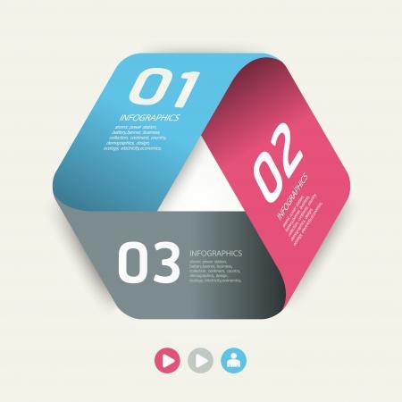 numbered: Design moderno modello pu� essere utilizzato per infografica numerati banner linee di foratura orizzontali grafiche o al sito web il layout Vettoriali