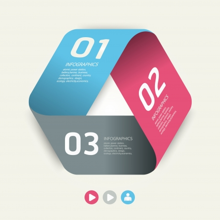 paper graphic: Modern Design template   can be used for infographics   numbered banners   horizontal cutout lines   graphic or website layout